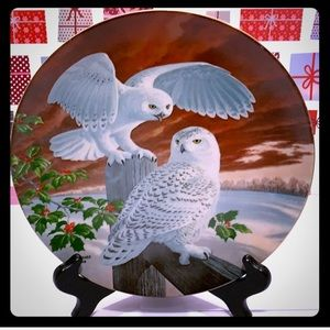 VTG SNOWY OWLS 1978Limited Edition Christmas Plate